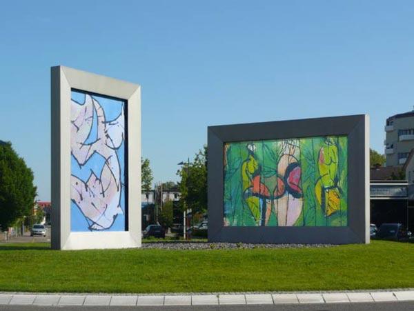 Kunst im Kreisverkehr Freiburgerstrasse - Schwarzwaldstrasse, Lahr 2012